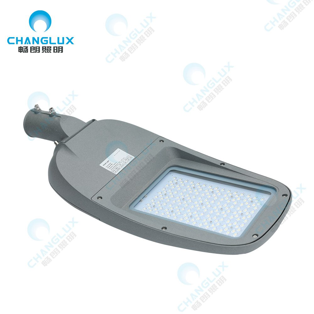 CL-SL-F200  200W Ip65 waterproof outdoor die casting aluminum housing tempered glass smd led street light manufacture